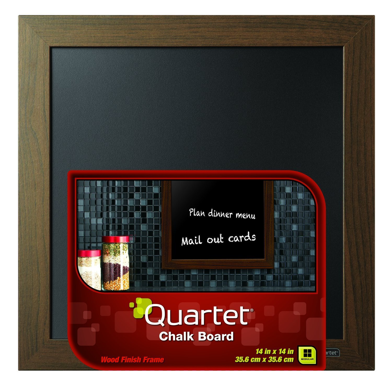 Quartet Chalkboard, 14'' x 14'', Wood Finish Frame (90006)