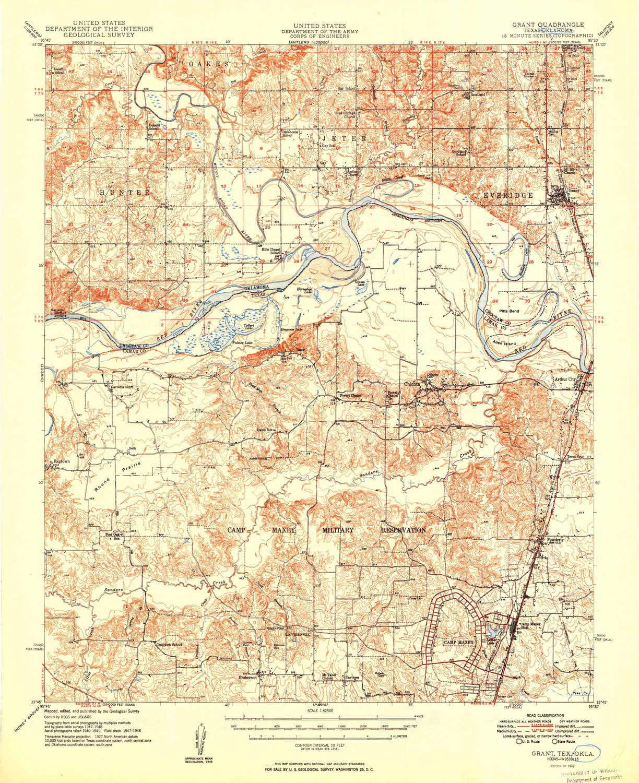 Amazon.com : YellowMaps Grant OK topo map, 1:62500 Scale, 15 ...