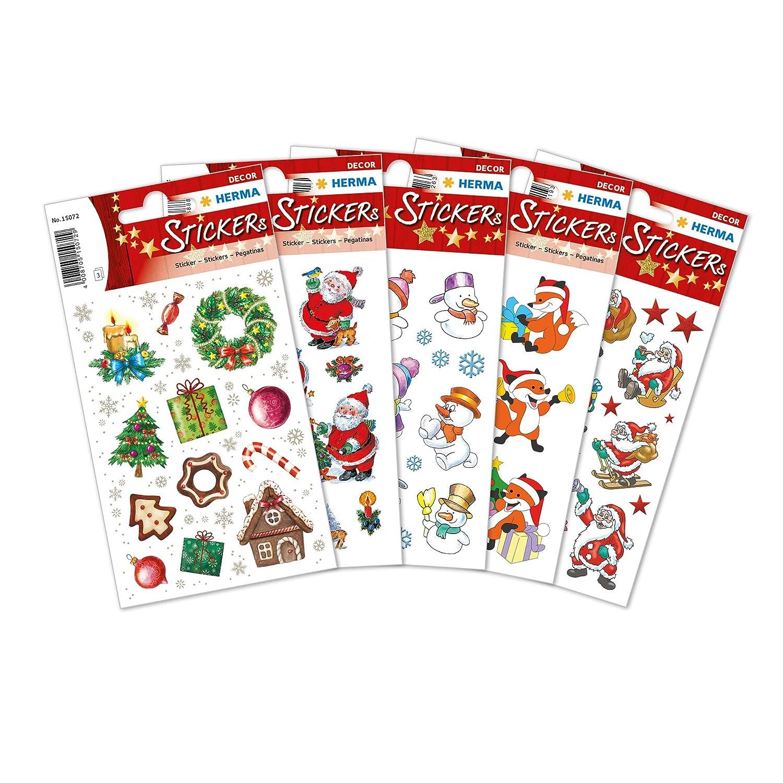 dise/ños navide/ños Pegatinas decorativas Herma 15502 5 paquetes