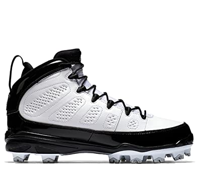 10d34bdc7 Nike Men s AIR Jordan IX Retro MCS Baseball Cleat White Black (13 D(