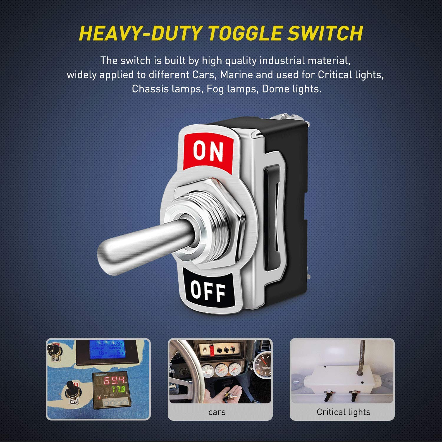 Nilight Heavy Duty Rocker Toggle Switch 15a 250v 20a Spst Round All Electronics Corp 125v 2 Pin On Off Metal Bat Waterproof Boot Cap Cover 5 Pack