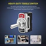 Nilight Heavy Duty Rocker Toggle Switch 15A 250V