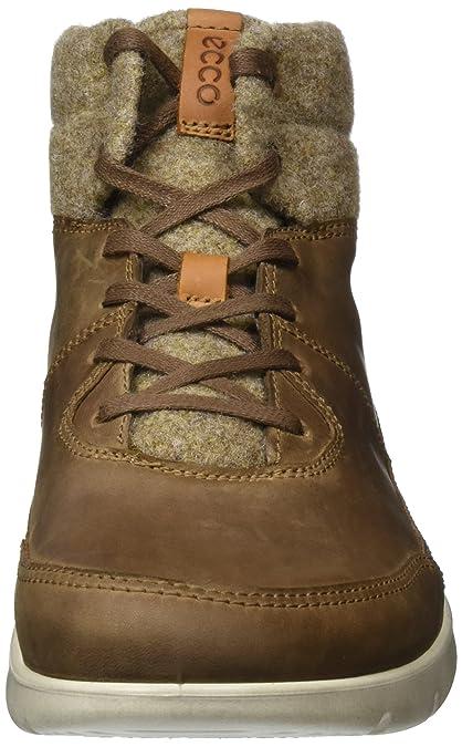 Ecco Iowa, Sneakers Hautes Homme, Noir (Black/TITANIUM52570), 46 EU