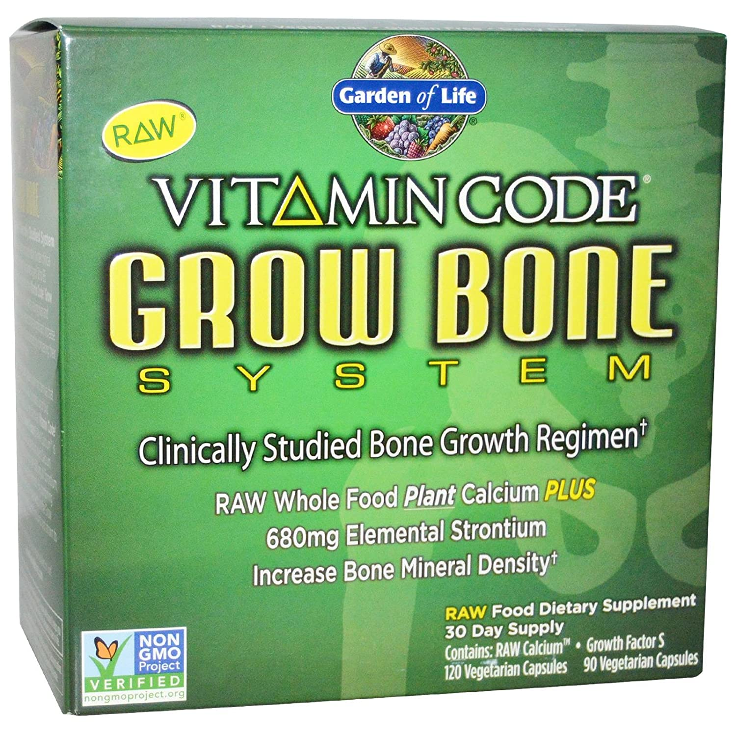 Amazoncom Garden of Life Vitamin Code Grow Bone 2 pack 60 day