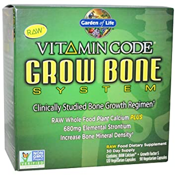Amazon.com: Garden of Life Vitamin Code Grow Bone 2-pack 60 day ...