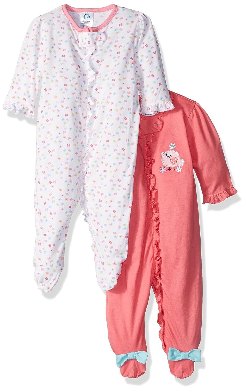Gerber Baby Girls' 2 Pack Zip Front Sleep 'n Play,Birdie,3-6 Months