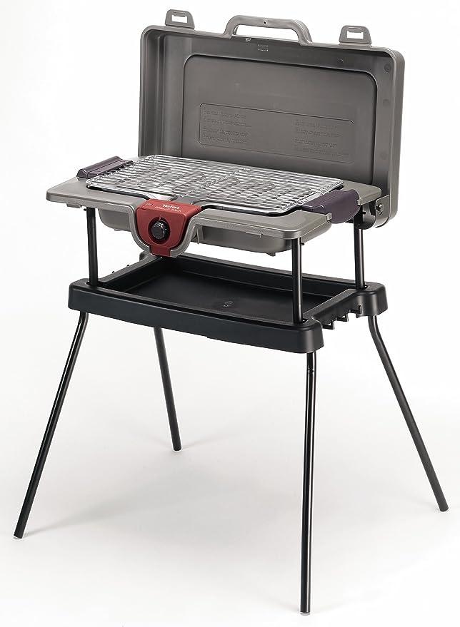 Tefal BG703812: barbacoa Grilln Pack, barbacoa en maleta, con patas