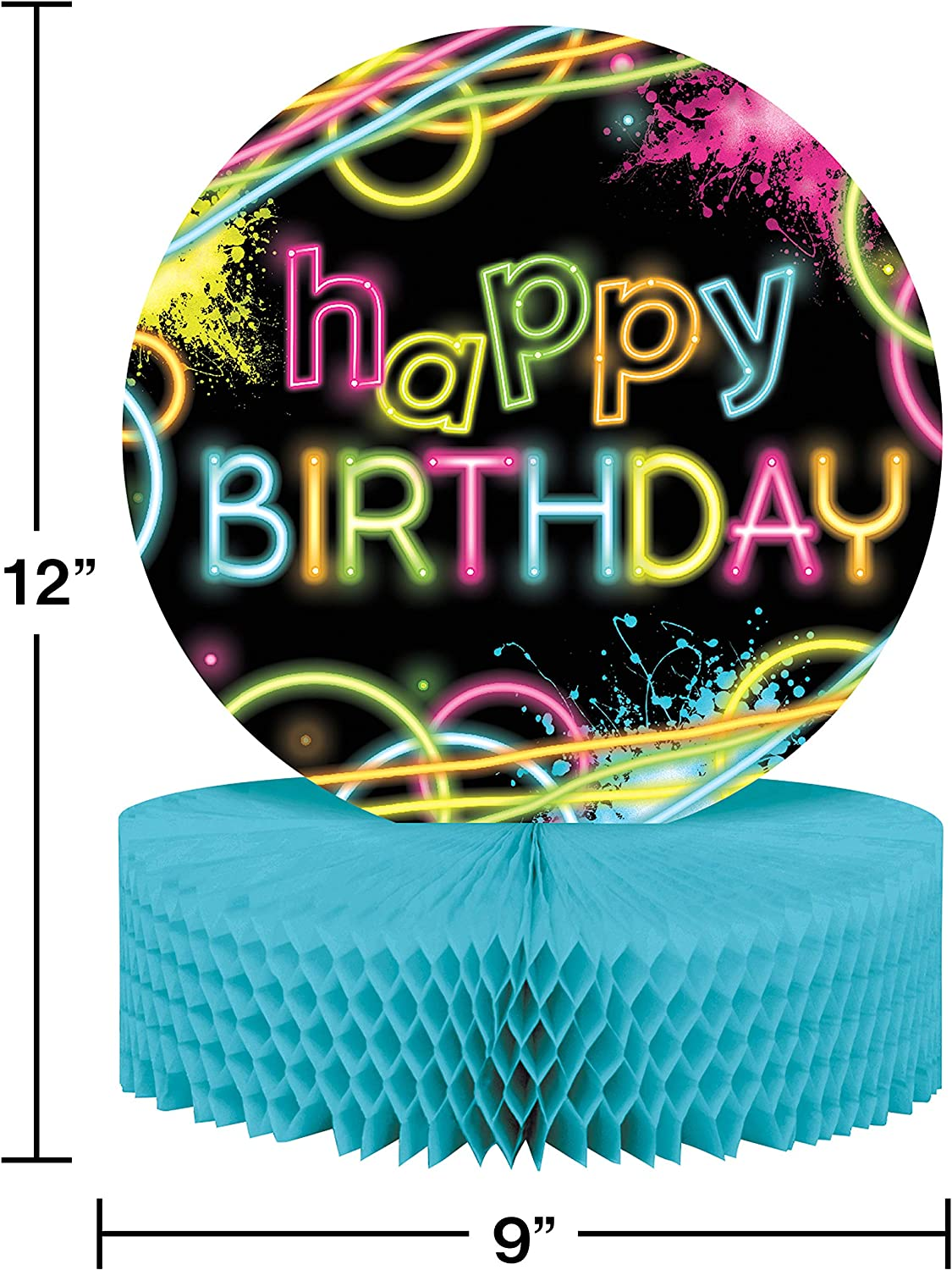 Creative Converting Glow Party Birthday Centerpiece Two-Pack 12