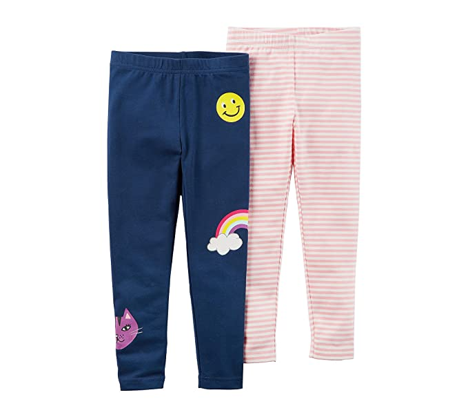 1b01fcefc Amazon.com  Carter s Baby Girls  12-24 Month 2-Pack Rainbow Leggings ...