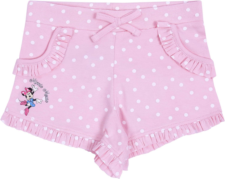 2X Pantaloncini a Righe Bianche e Rosa con Pois Minnie Mouse Disney