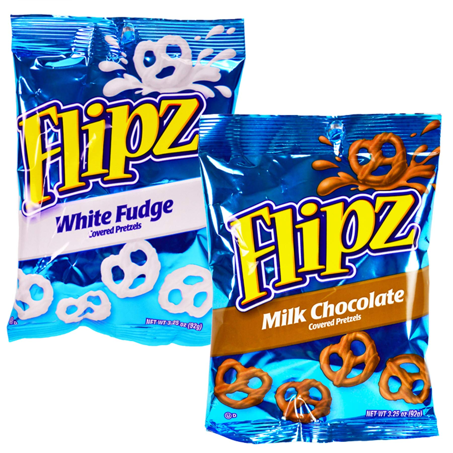 (Pack of 72) Flipz Pretzels White Fudge, Milk Chocolate, Covered Pretzel, Assorted 3.25oz