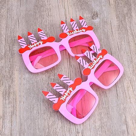 Amosfun Dos Velas Creativas cumpleaños Feliz Color ...