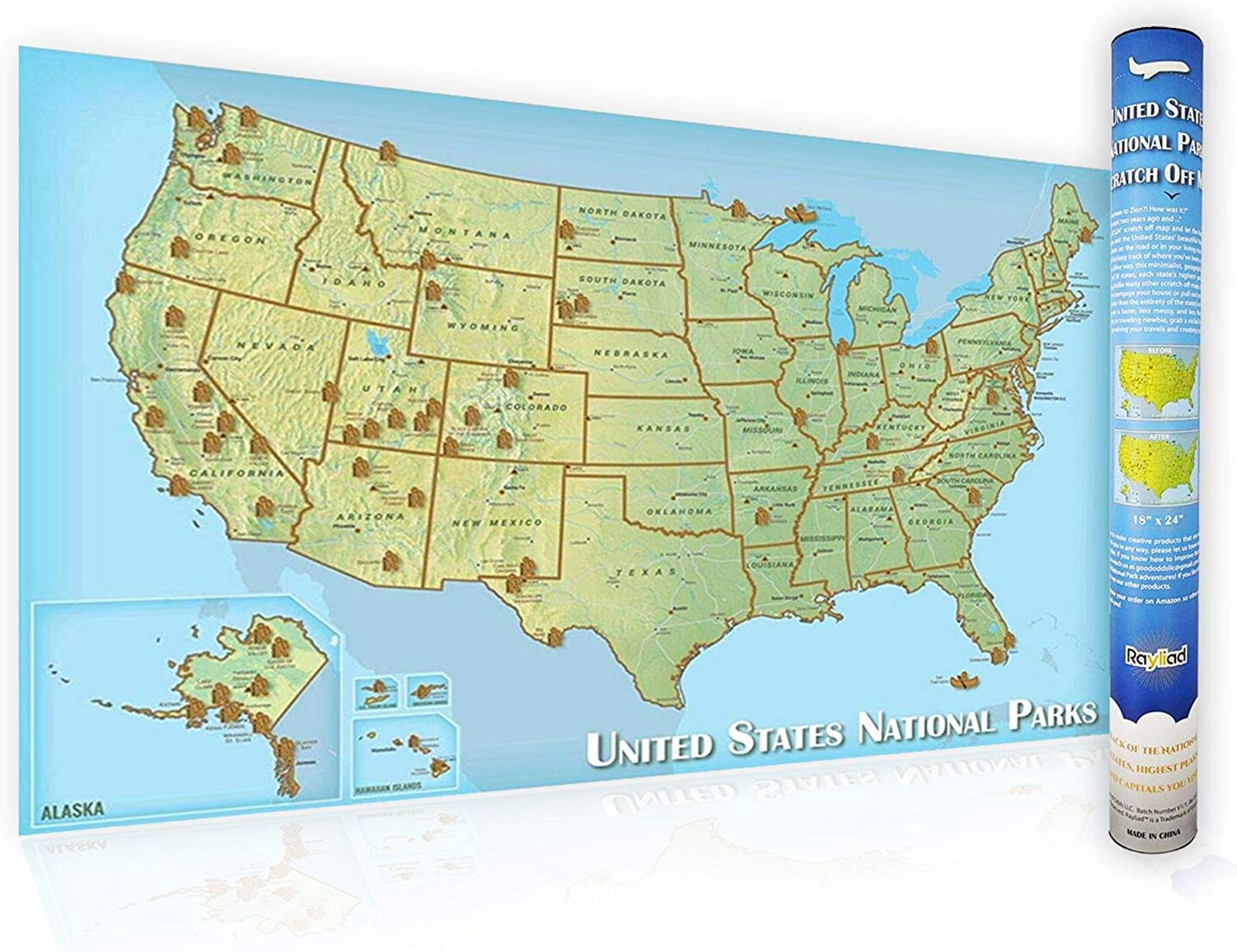 Rayliad United States National Park Scratch Off Map – 18 x 24 Inch on olympic national park map, food by state map, state birds map, badlands national park map, cuyahoga valley national park map, gates of the arctic national park map, national parks in each state, national map of usa, monuments by state map, new york state national parks map, casinos by state map, politics by state map, carlsbad caverns national park map, concealed carry by state map, religion by state map, katmai national park and preserve map, national wildlife refuges by state map, superfund sites by state map, military bases by state map, weather by state map,
