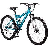 """Mongoose 26"""" Bedlam 21 Speed Full Suspension Frame Mountain Bike"""