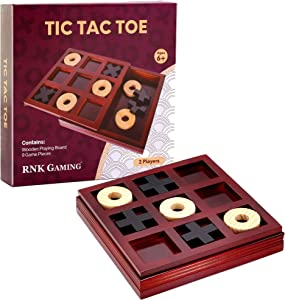 RNK Gaming Wooden Tic Tac Toe Game