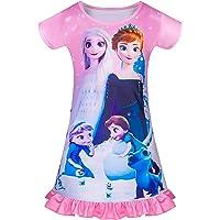 Niños Niñas Camisones de Unicornio Manga Corta Camisón Estampado con Arco Iris Pijama Camisón Ropa de Dormir 3-8Y Rosa…