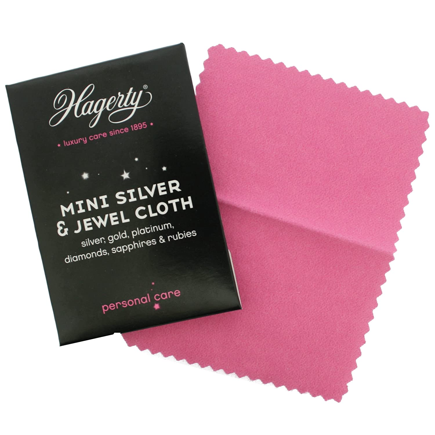 Hagerty Mini Jewellery Cleaning cloth gold & silver Mini cloth 7610928016286