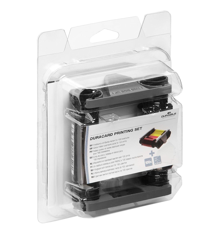 Durable Durable Durable Duracard - Juego de impresión (cinta de color + tarjetas) 58078b