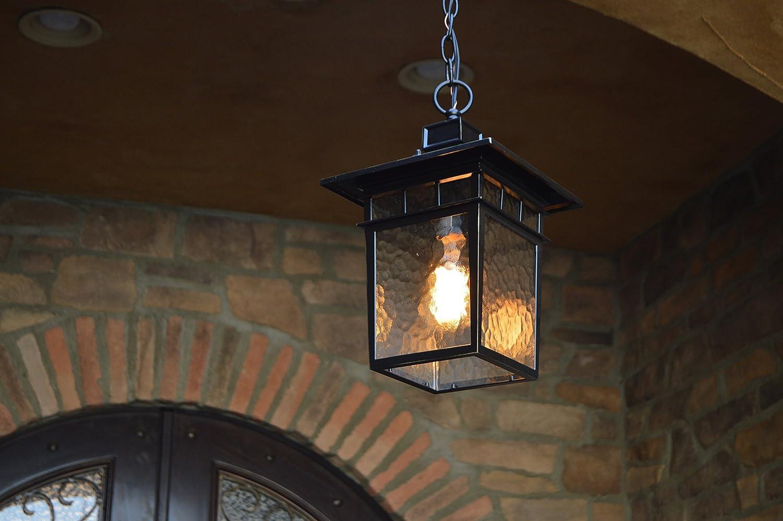 Imperial Black AA Warehousing EL727LHIB EL2072LHIB Cullen 1 Hanging Exterior Lighting
