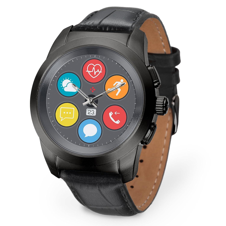 MyKronoz ZeTime Premium Reloj Inteligente híbrido con Agujas mecánicas Sobre una Pantalla a Color táctil: Amazon.es: Electrónica