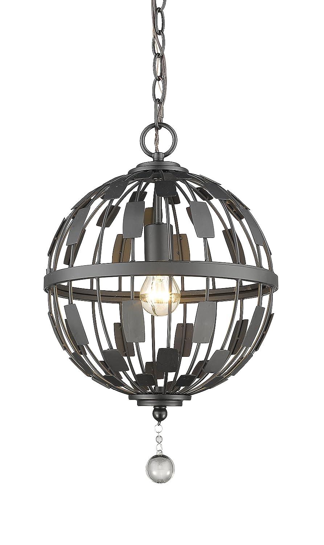 Amazon.com: Z-Lite 430b12-bn almet 1 luz lámpara de techo ...
