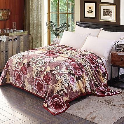 Manta de franela sofá cama de tiro de felpa colcha suave delgada acogedora arruga resistente para
