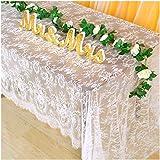Lace Tablecloth Rectangular 60x120 White EmbroideredLaceTableclothThanksgiving Table Cloth EyelashLaceTableCover Vintag