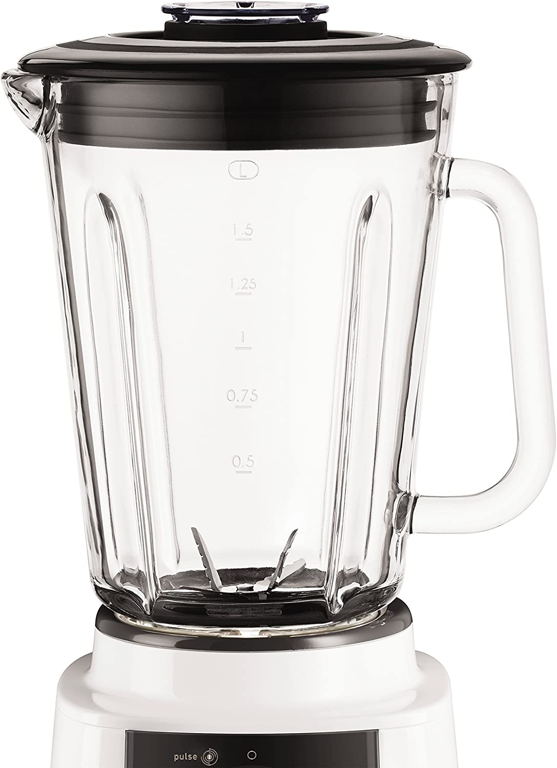 Tefal Mastermix Blender BL800140, 1.5 L High Performance Glass Jug with 20 Speeds and Pulse Function - White by Tefal: Amazon.es: Hogar