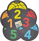 سكل شوت سبوت علامات التدريب على كرة السلة والسيارة.