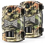WOSODA Trail Game Camera, 16MP 1080P Waterproof Hunting Scouting Cam for Wildlife Monitoring with Night Vision LY123 (2…