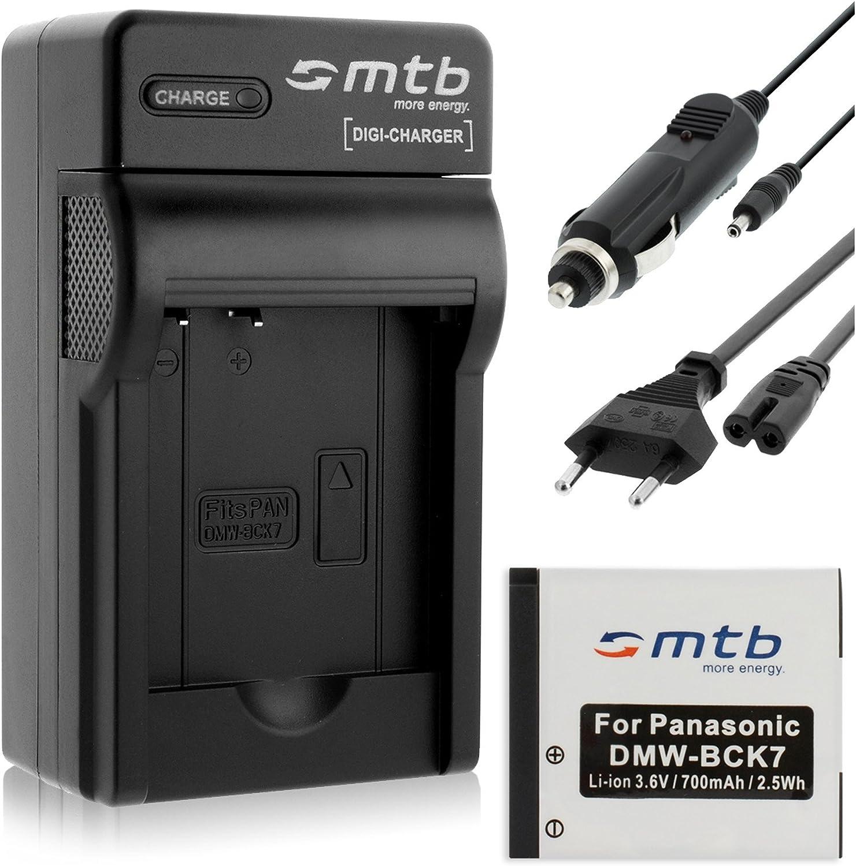 Batería + Cargador (Coche/Corriente) para Panasonic DMW-BCK7 / Lumix DMC-FH, FP, FS, FT, FX.- Ver Lista!