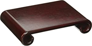 Oriental Furniture Rosewood Scroll Stand - Small