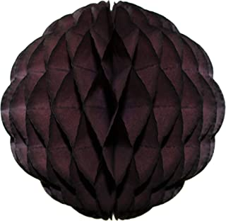 product image for 3-Pack 14 Inch Honeycomb Scalloped Tissue Ball Party Decoration (Brown)