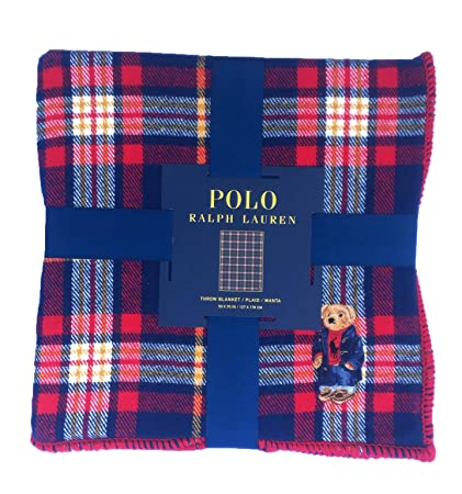 2e2e2f28 Image Unavailable Not Available For Color Ralph Lauren Polo Bear Limited  Collectors Edition Tartan Plaid Throw