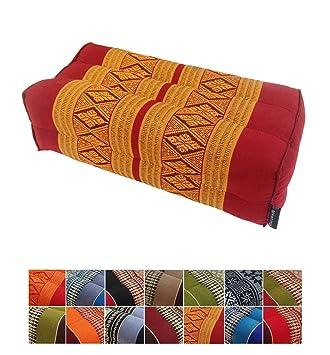 Almohada de ceiba para apoyo tradicional tailandés (yoga o meditación), 35 x 15 cm, Copper, Burgundy: Amazon.es: Deportes y aire libre