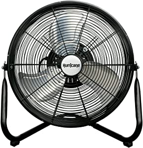 Hurricane HGC736492 Orbital Wall/Floor Fan - 16 Inch, Pro Series, High Velocity, 360 Degree Oscillation, Heavy Duty Metal For Industrial, Commercial, Residential, & Greenhouse Use - ETL Listed, Black
