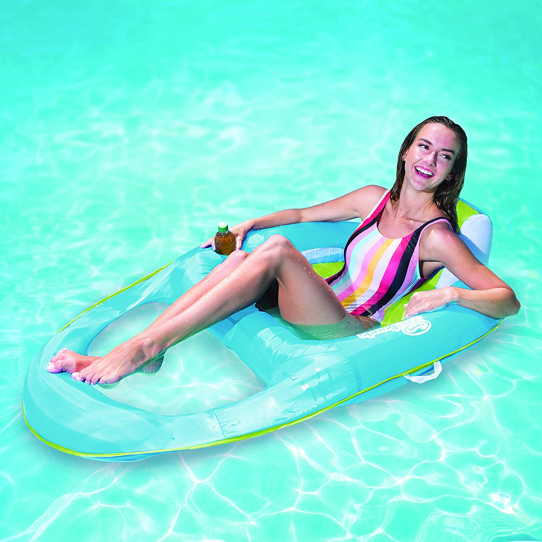 SwimWays Spring Float Recliner Tumbonas Flotante - Flotadores para Piscina y Playa (Tumbonas Flotante, 113 kg, 15 año(s), Hombre/Mujer, China, 910 mm)