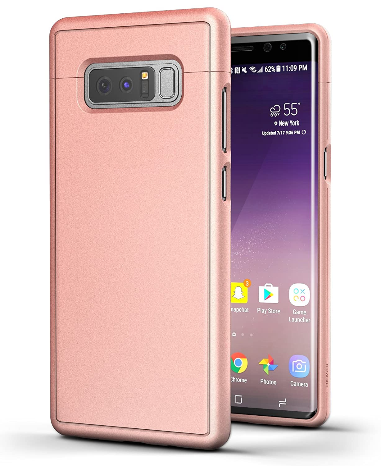 big sale fd930 1a333 Galaxy Note 8 Case Rose Gold - Encased [Slim Shield Edition] Ultra Thin  Protective Grip Phone Case for Samsung Galaxy Note8