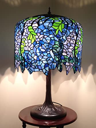 Annecy-Wisteria 18inch Tiffany Table Lamp