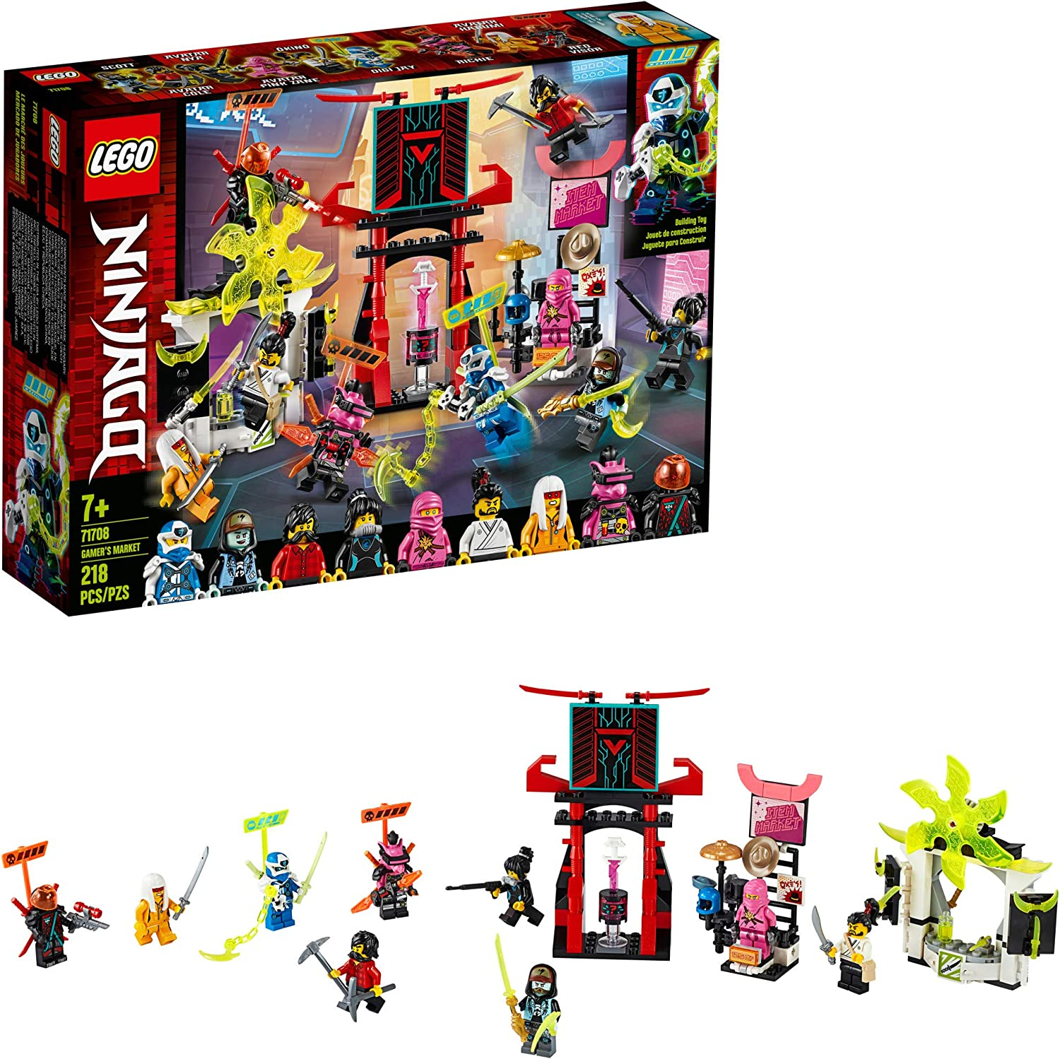 LEGO NINJAGO Gamers Market 71708 Ninja Market Building Kit, New 2020 (218 Pieces)