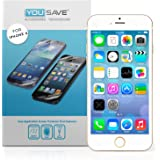 Yousave Accessories iPhone 6 Screen Protector 5 Pack [Ultra Thin] Crystal Clear [Triple Layer Scratch Guard Technology]