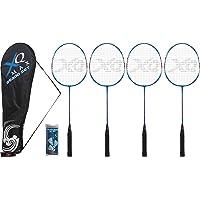 XQ Max BS300 Set de 4 raquettes de badminton