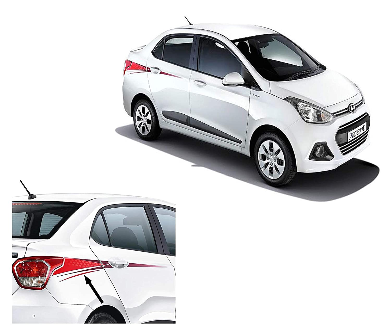 Autopop car sticker graphics for hyundai xcent same as in special edition model amazon in car motorbike