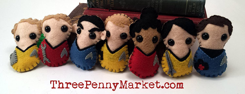 Montgomery Scotty Scott * in stock and ready to ship * mustache version - Star Trek plushie