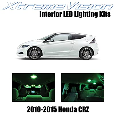 Xtremevision Interior LED for Honda CR-Z 2010-2015 (9 Pieces) Green Interior LED Kit + Installation Tool Tool: Automotive
