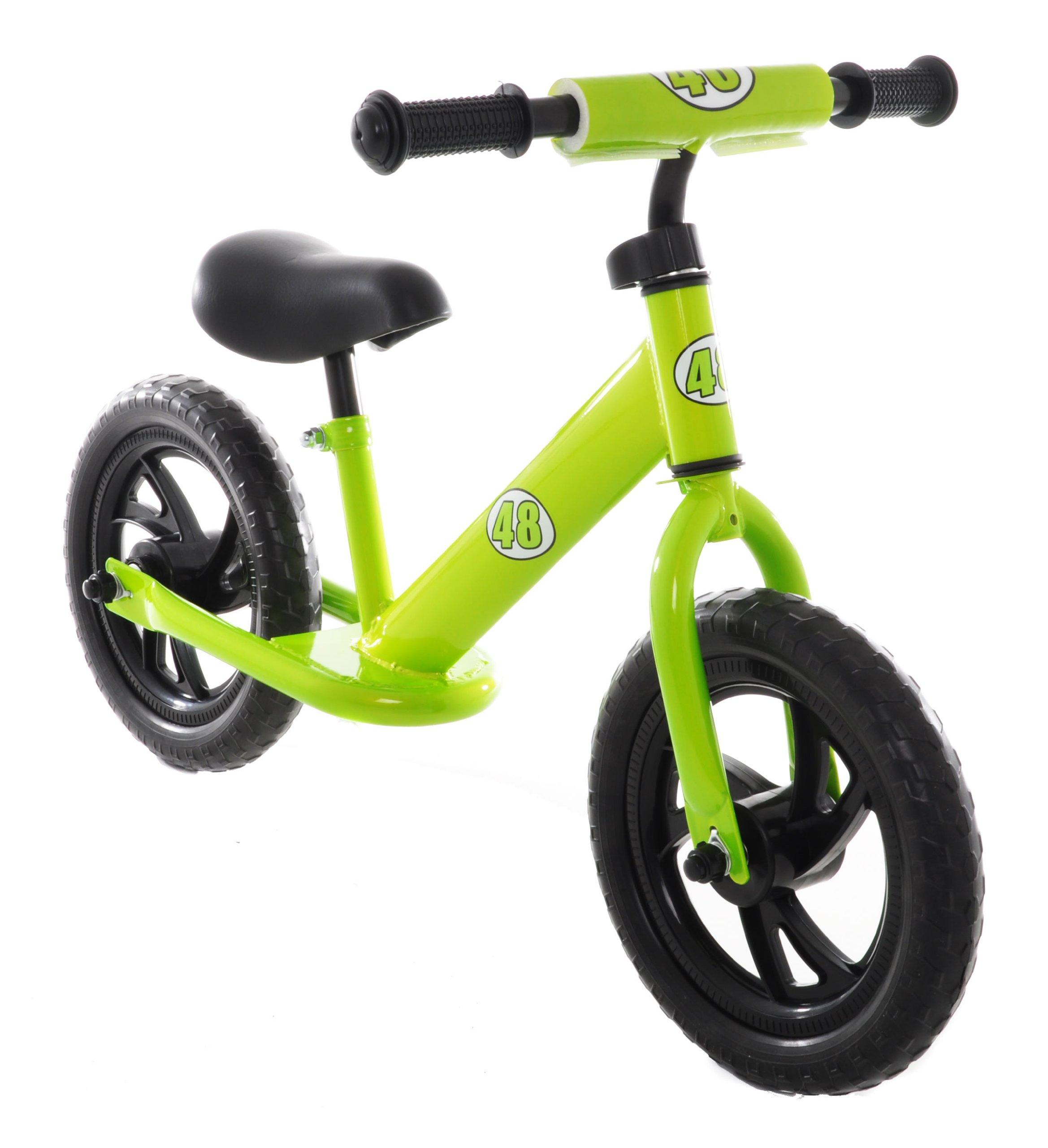 Vilano Rally Balance Bike Training No Pedal Push Bicycle, Green