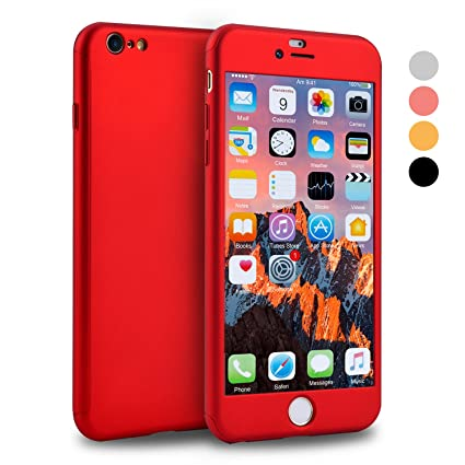 iPhone 6s Case, VANSIN 360 Full Body Cover Ultra Thin Protective Hard Slim Case Coated Non Slip Matte Surface with Screen Protector for Apple iPhone 6 ...