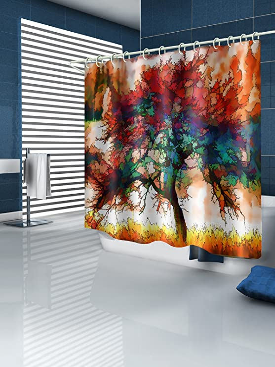 Amazon.de: 3D Digitale Aquarell Malerei Bäume Landschaft Kunst ...