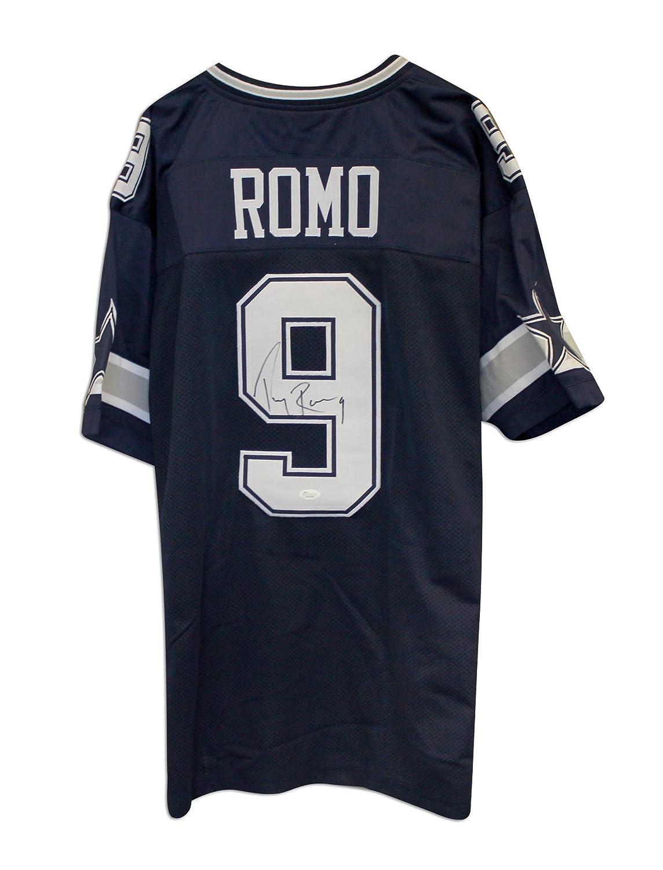 half off dcd70 0f673 Tony Romo Dallas Cowboys Autographed Blue Throwback Jersey ...