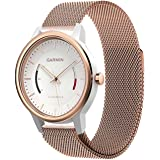 Garmin Vivomove Watch Band, Yesoo Premium Magnet Loop Milanese Watch Band Bracelet Strap For Garmin Vivomove Premium/Classic/Sport (Rose Gold)